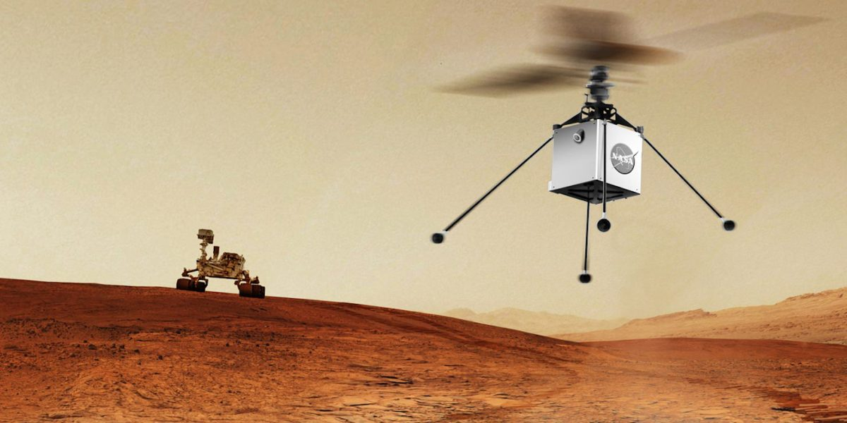 NASA is sending an autonomous helicopter drone to Mars as part of their next rover mission in 2020