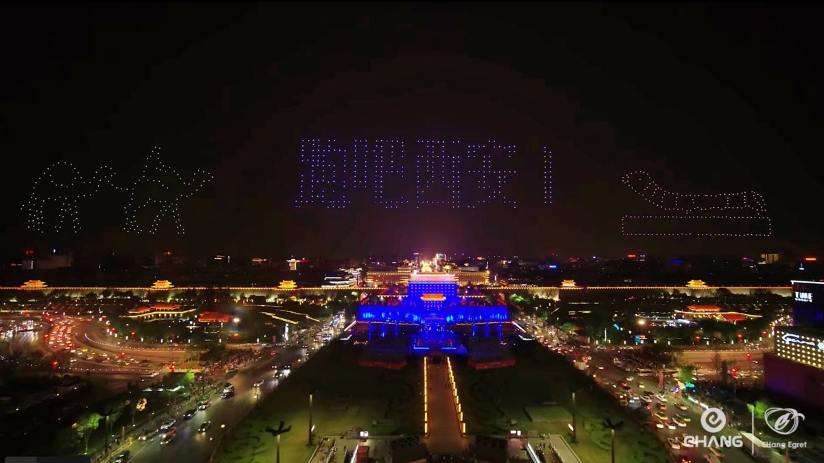 With 1,374 drones, Ehang set a new world record for biggest drone display