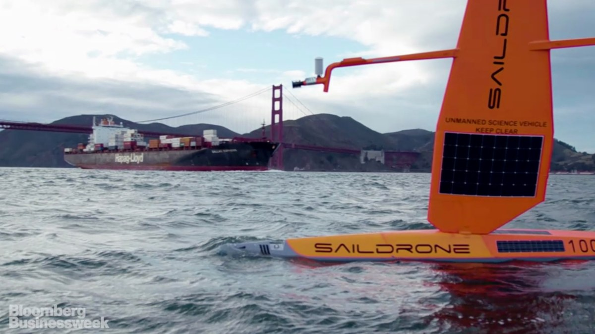 Saildrones sent to White Shark Cafe in the Pacific Ocean to monitor one of the world's largest shark migrations