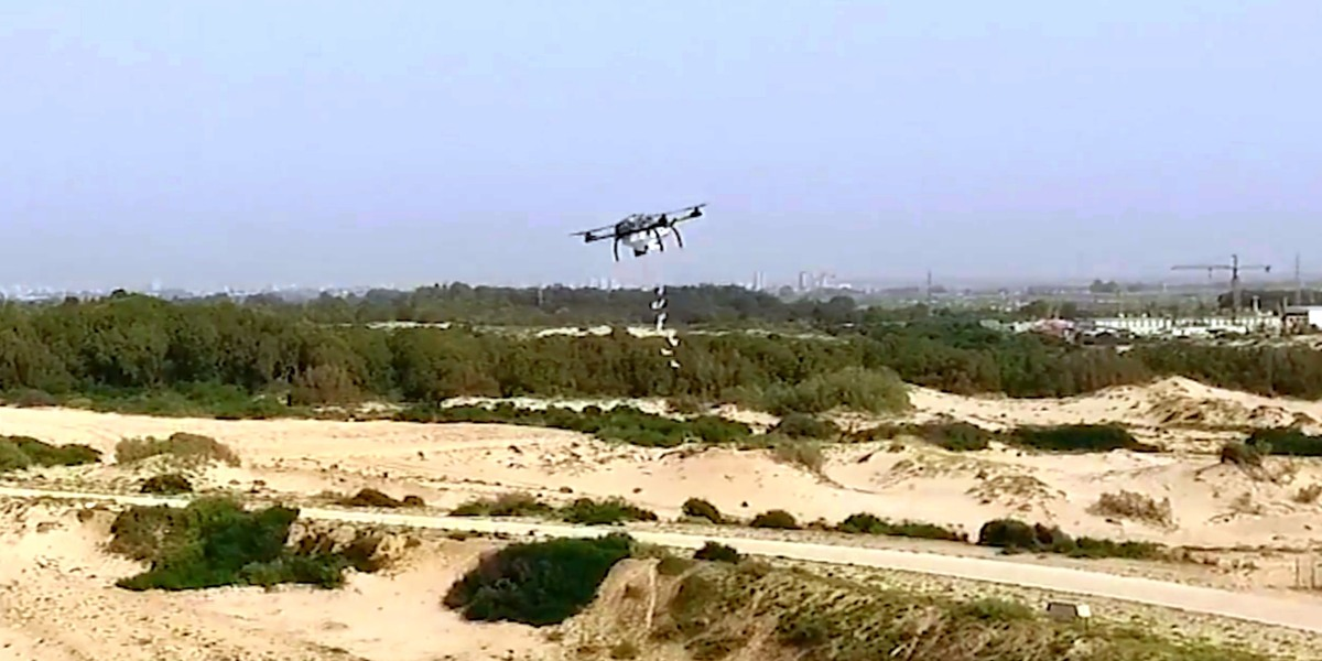 IDF develops Shoko drone to drop skunk water bags on protesting Palestinians