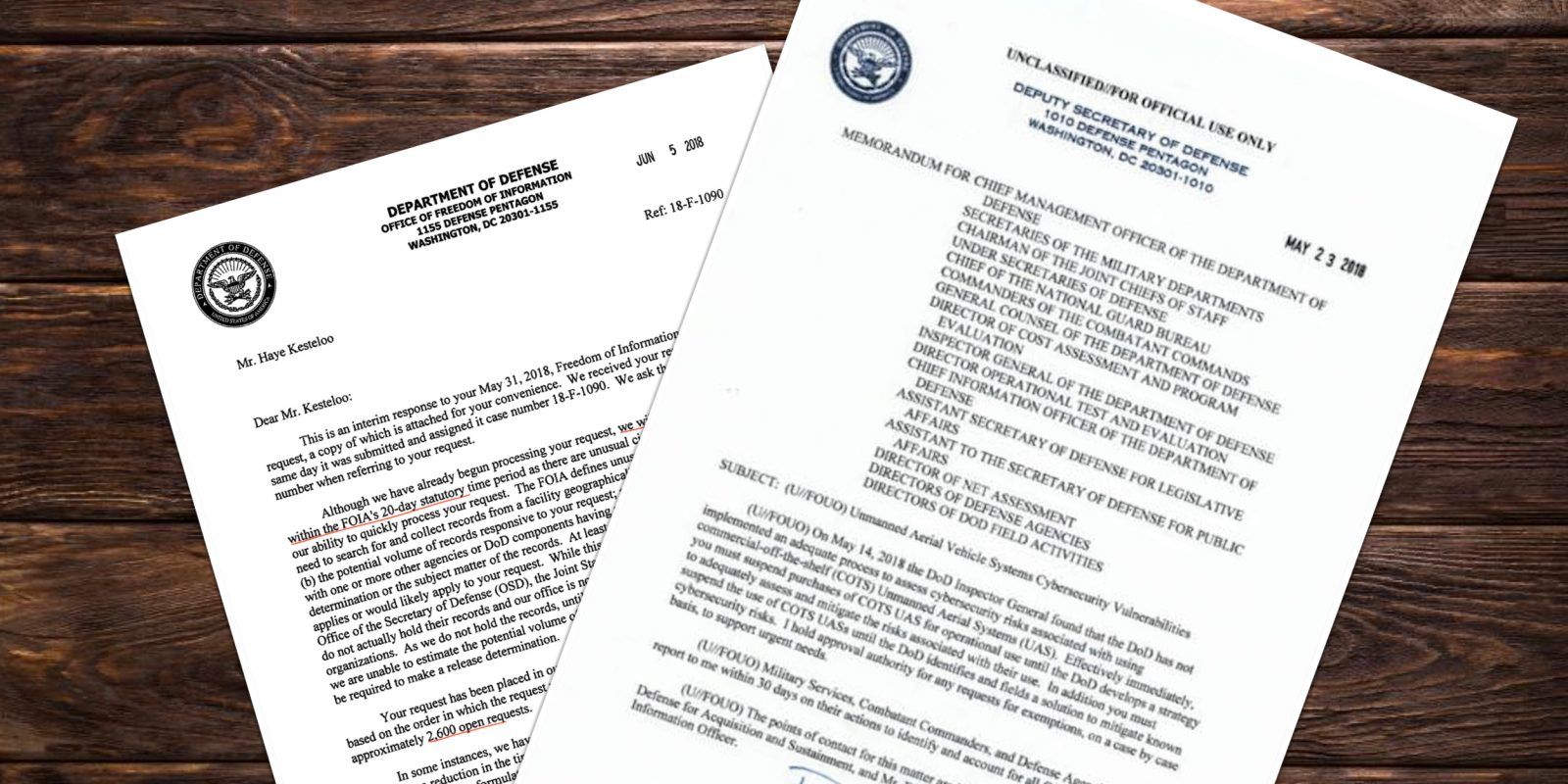 Department of Defense bans the purchase of commercial-over