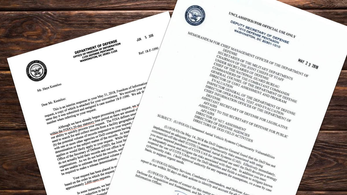 Department of Defense bans the purchase of commercial-over-the-shelf UAS, including DJI drones effective immediately 2