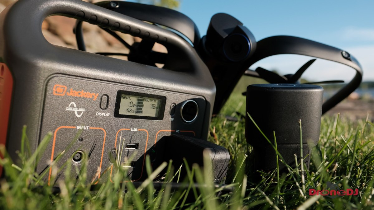 DroneDJ Review: The Jackery 50W Explorer Solar Panel and Explorer 240 battery charger