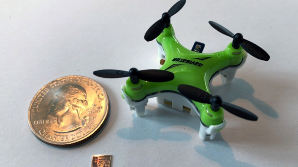 Nano-drones can navigate with help from new tiny and super efficient MIT chip