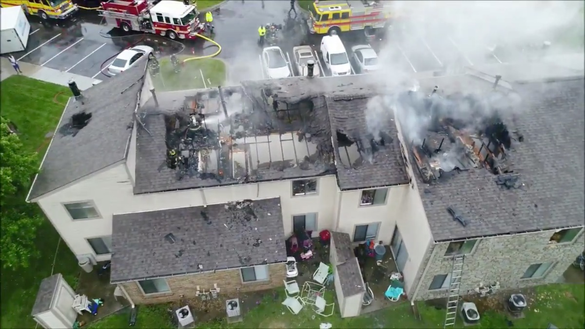 """Fire Department flies DJI Matrice 210 drone for the first time ever in heavy rain. """"She performed like a champ!"""""""