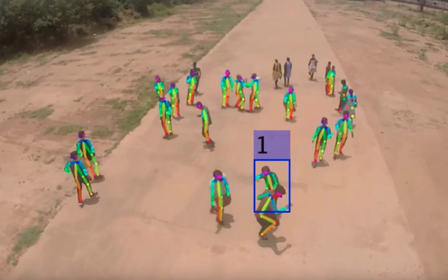Using A Drone And AI To Spot Fighting People In Crowd