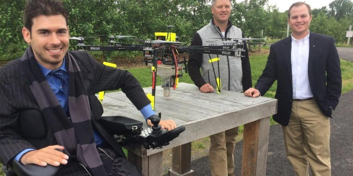 NY Genius finalist Dropcopter pollinates the first apple orchard in the world in central New York