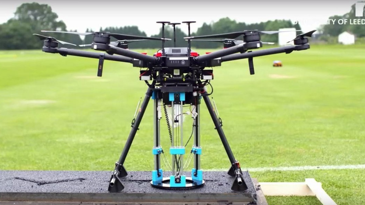 Concept drone is able to repair potholes using a 3-D printer