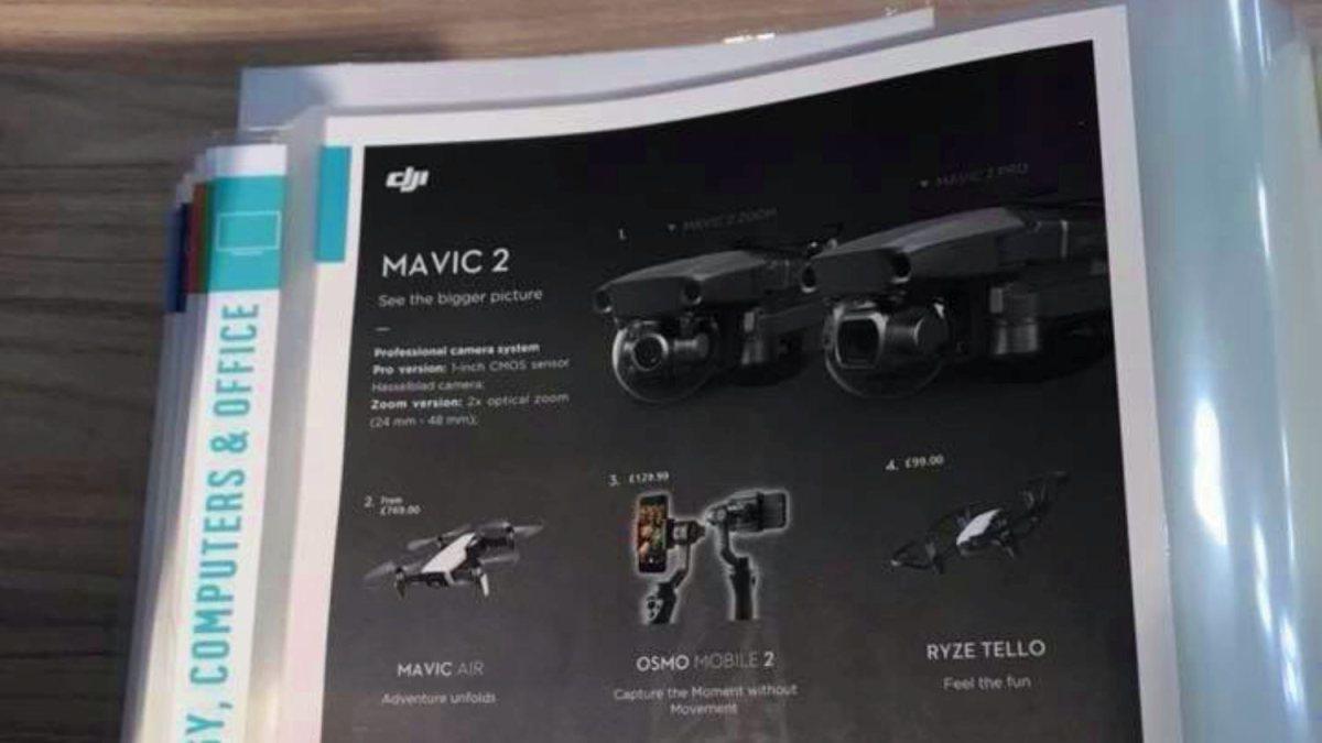 Breaking News: DJI Mavic 2 listed in UK Argos catalog
