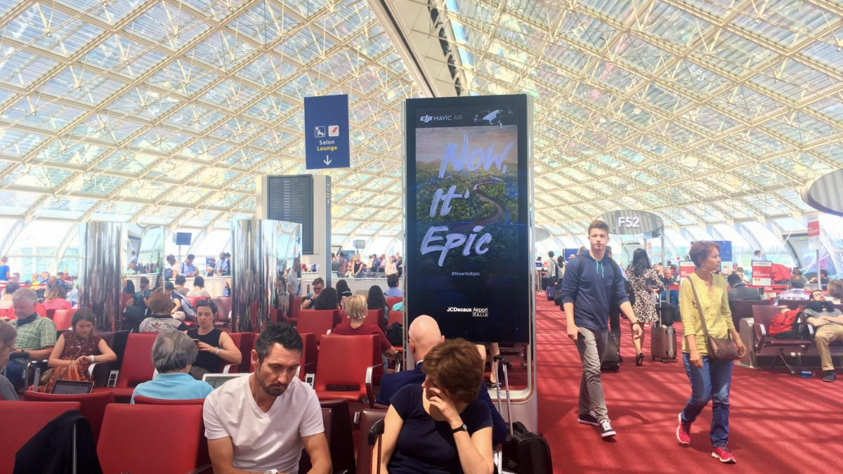 DJI's Now it's Epic campaign to promote the Mavic Air on 364 JCDecaux screens at five international airports around the world