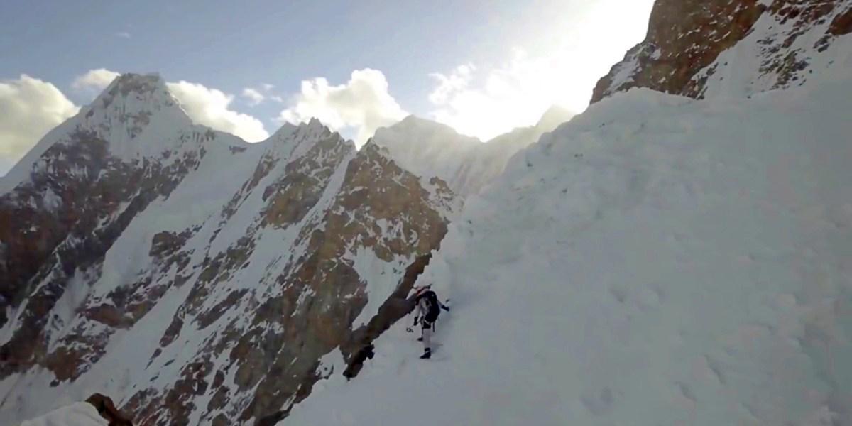 DJI Mavic Pro captures first person to ever ski down the K2 mountain summit