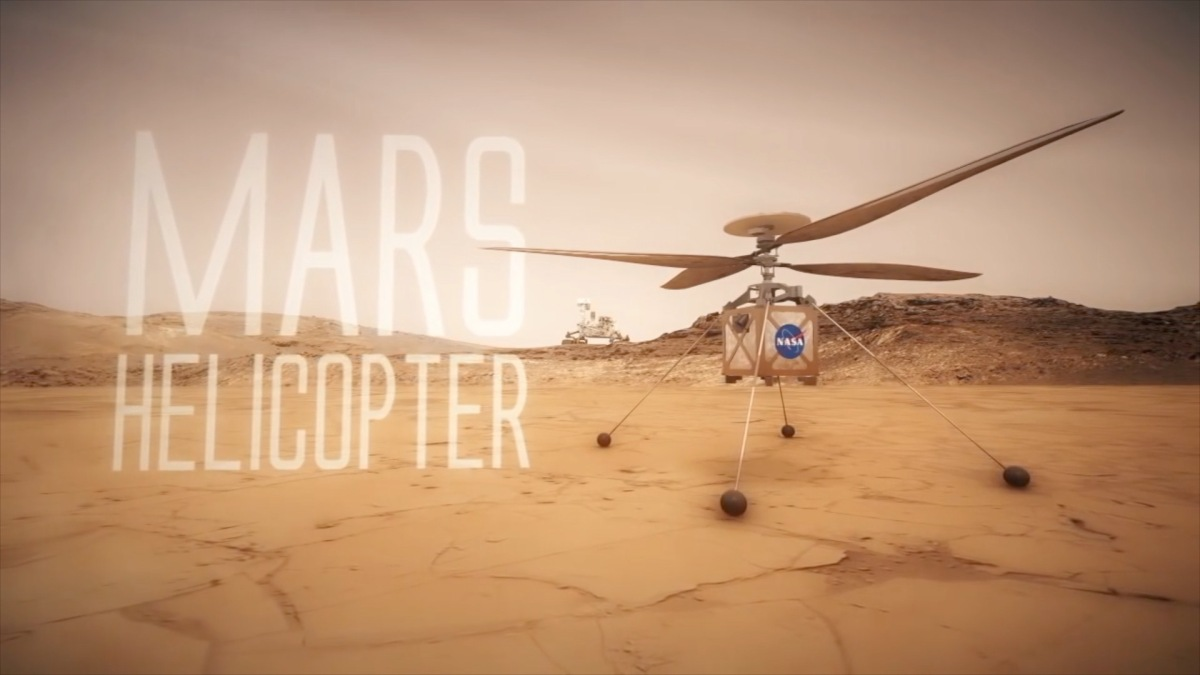 Small helicopter drone to accompany the Mars 2020 rover