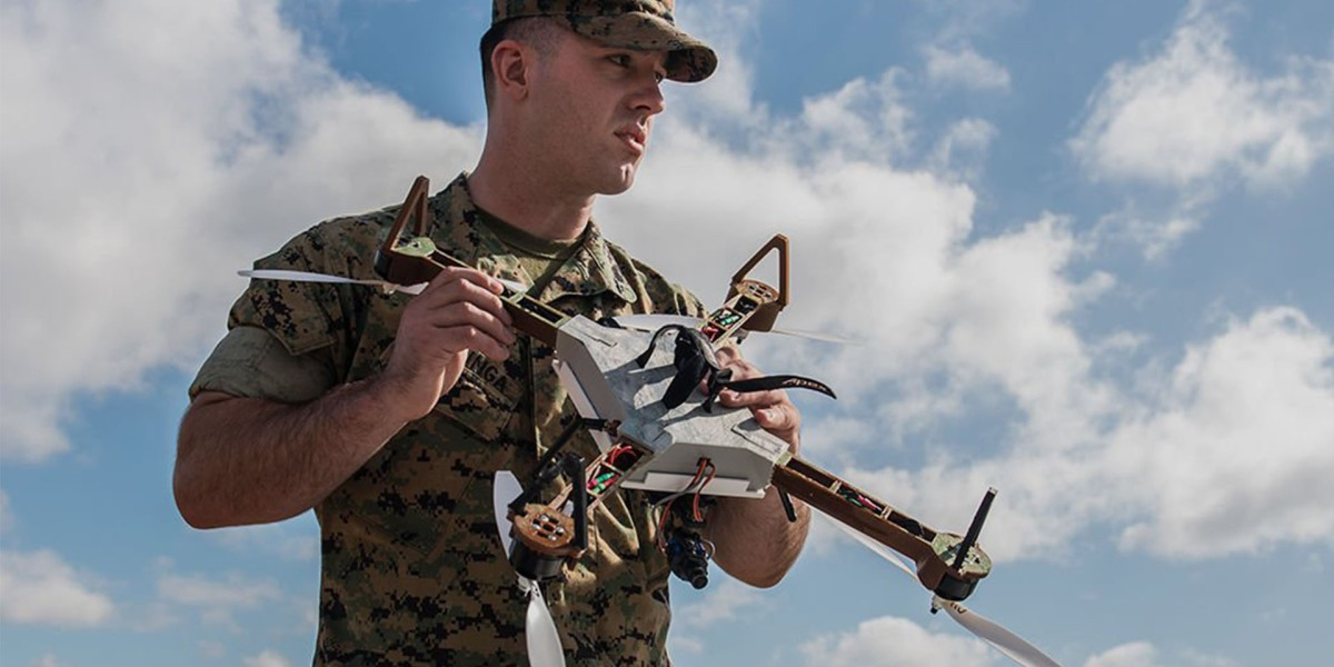 Marines testing drone swarms controlled from a single operator