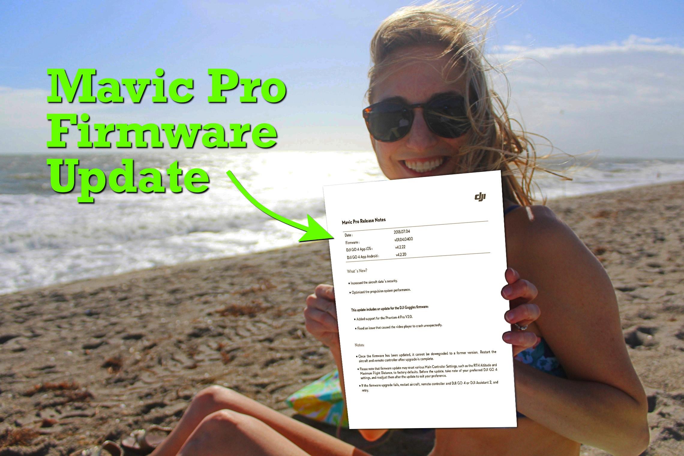 DJI Mavic Pro firmware update - v01 04 0400 - DroneDJ