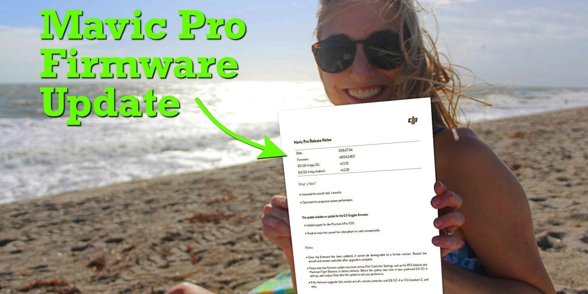 DJI Mavic Pro firmware update - v01.04.0400