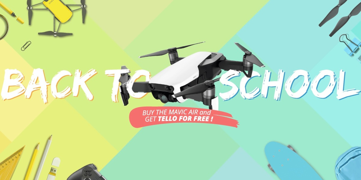 """DJI's """"Back To School"""" special - Buy a Mavic Air Fly More combo and get the Tello for free"""