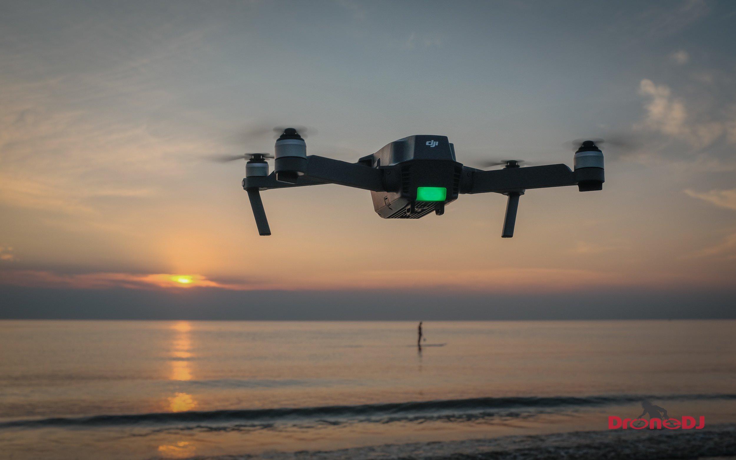 DJI Mavic Pro sets off into the sunset