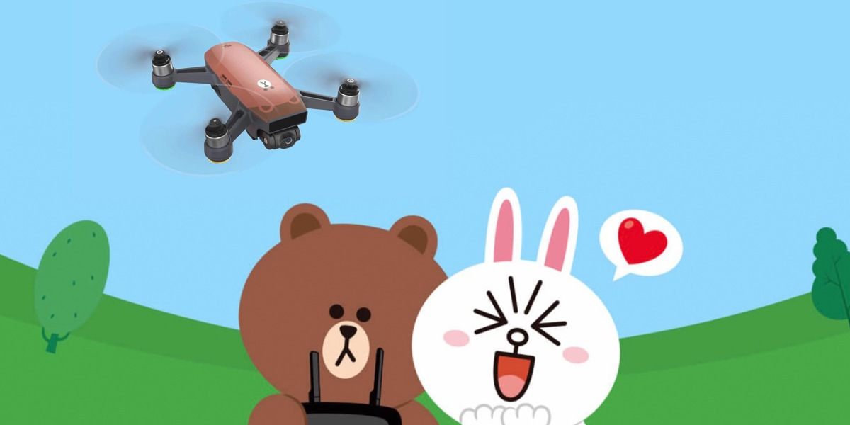 DJI Spark - DJI has teamed up with Line Friends to create brown Spark mini-drone0006