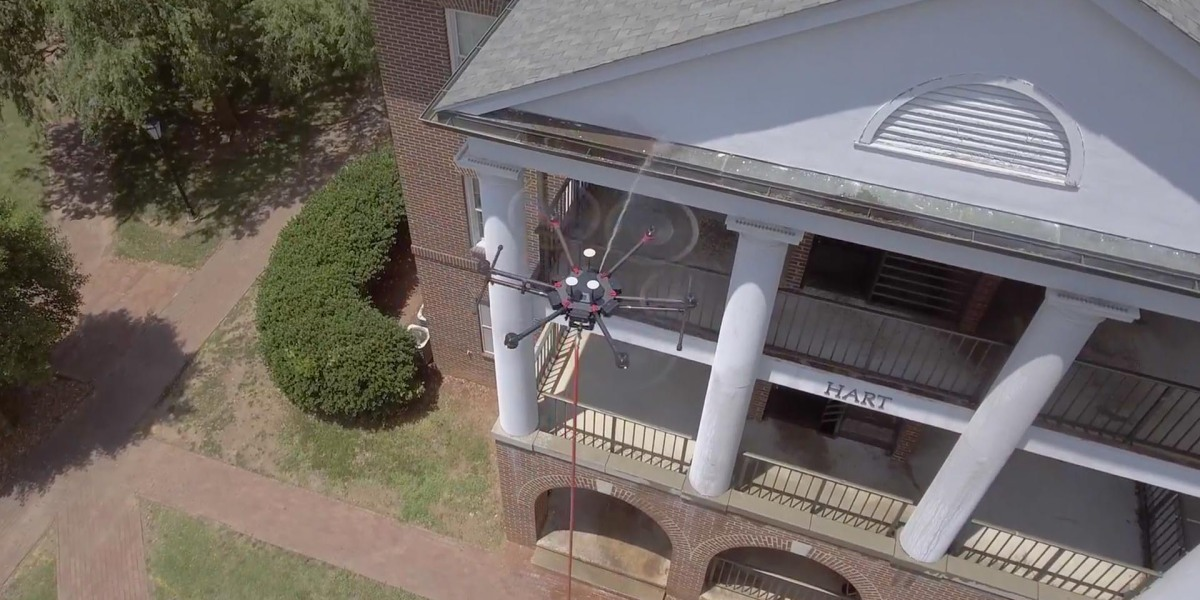 Building cleaning drones take flight in North Carolina
