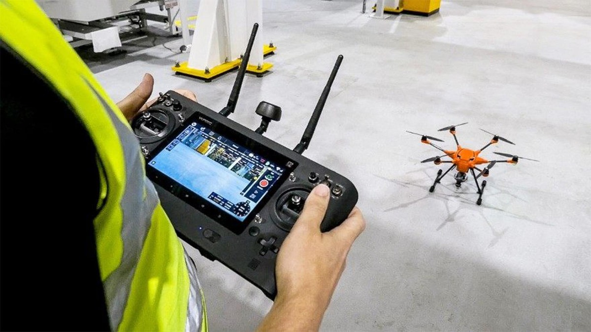 Ford plant in United Kingdom is using drones to inspect large machinery