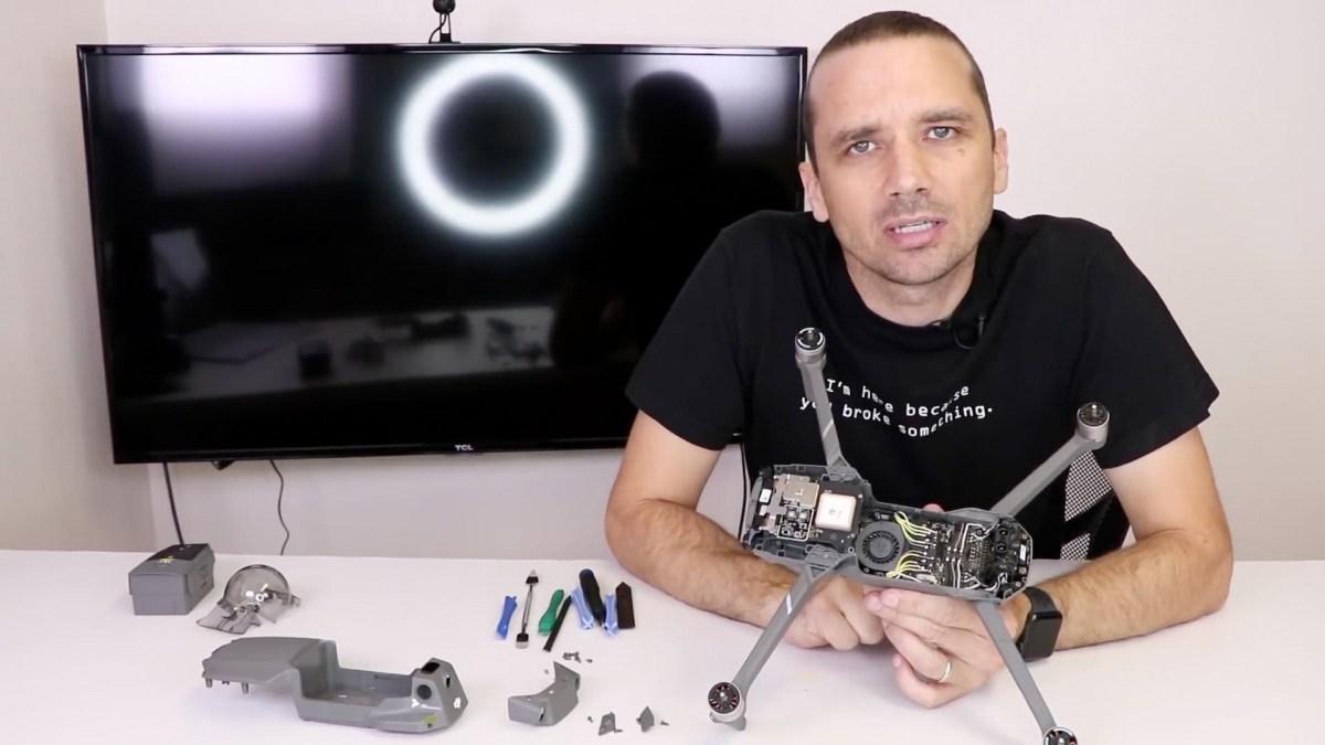 Watch a DJI Mavic 2 Zoom come apart in this teardown video
