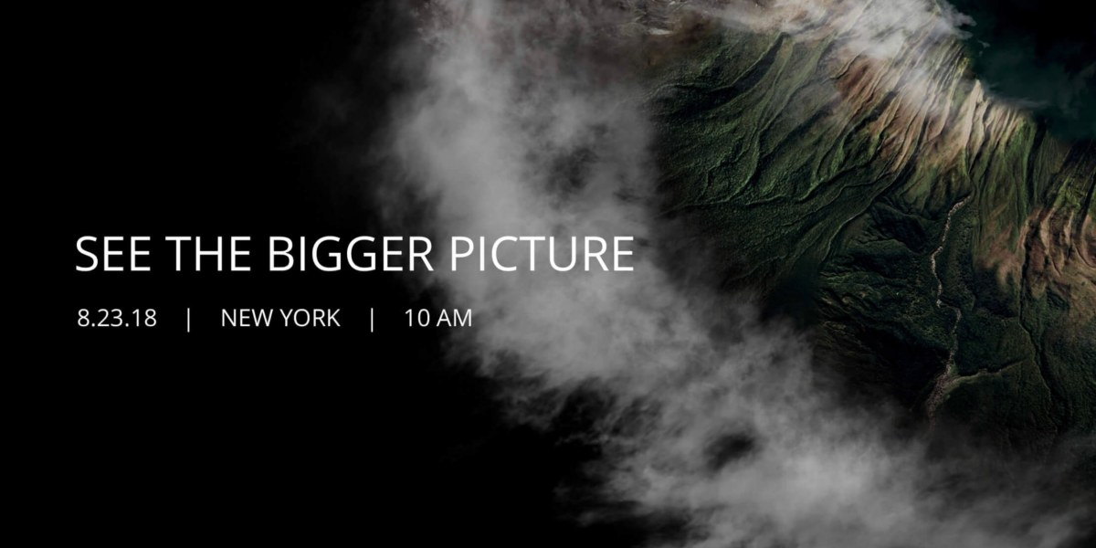 """DJI official announcement of their rescheduled """"See the Bigger Picture"""" event."""