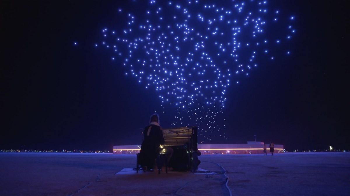 Mesmerizing Franchise Freedom drone light show at Burning Man 2018