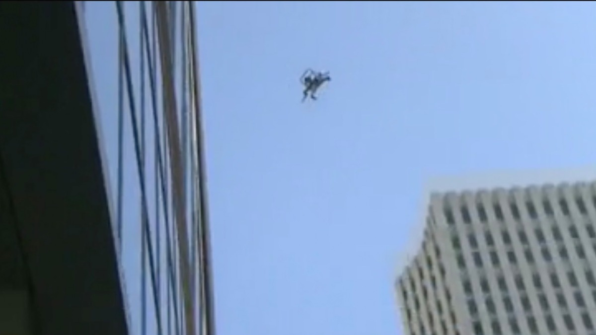 Drone falls out of the sky during inspection of sinking Millennium tower in San Francisco