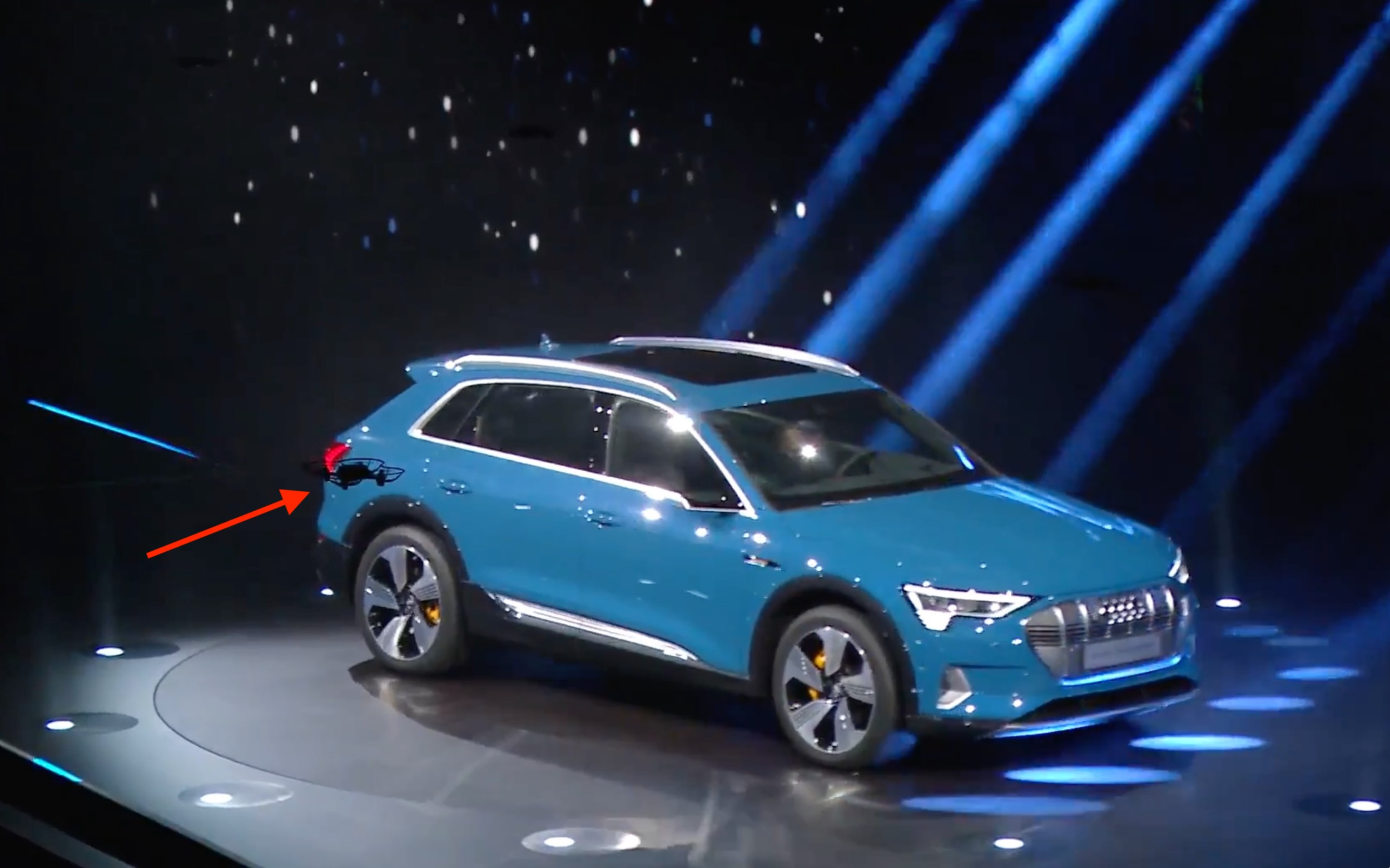 Audi kicks off launch e-tron model with a drone light show