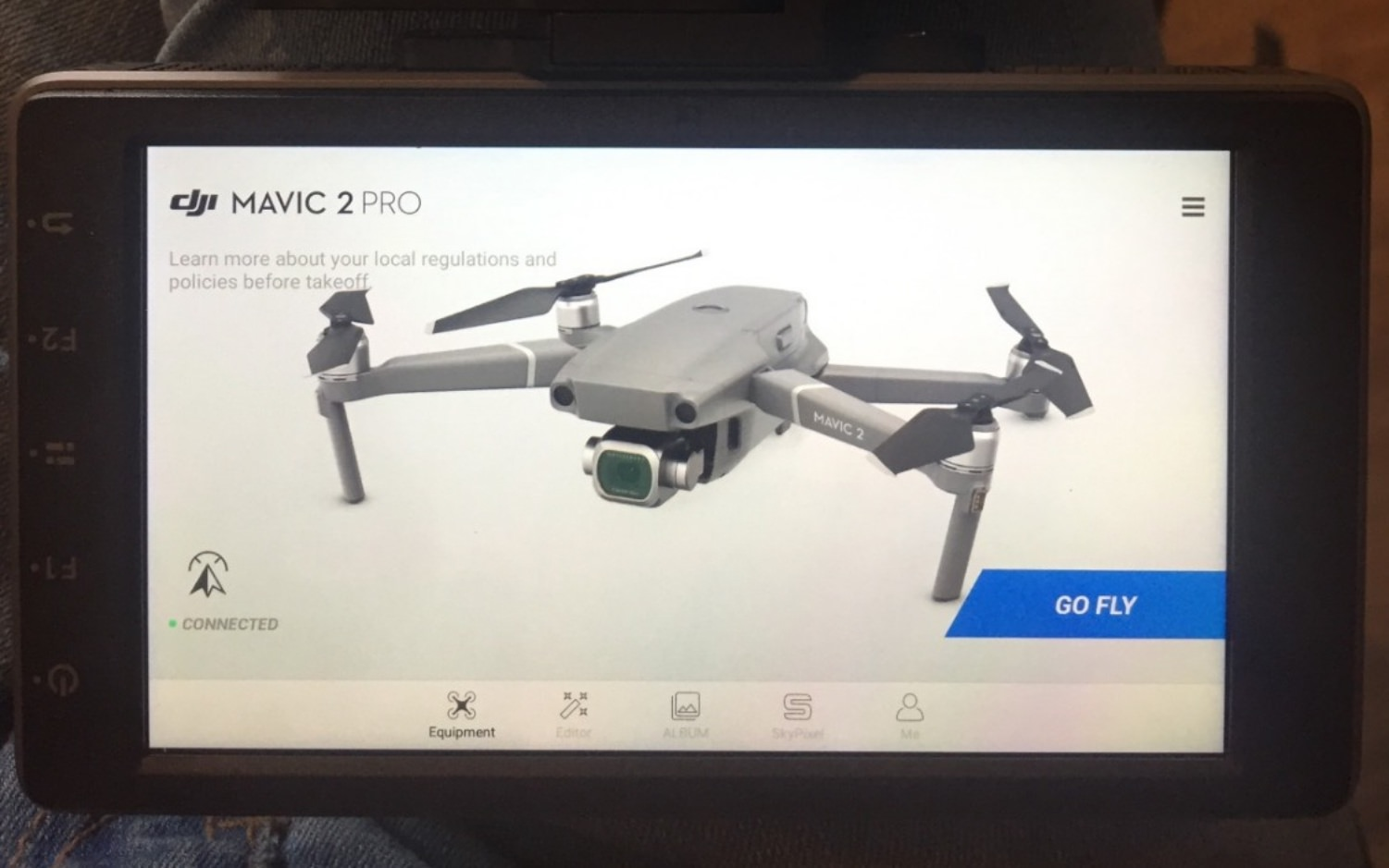 DJI's CrystalSky works with the DJI Mavic 2 Pro and Zoom as well