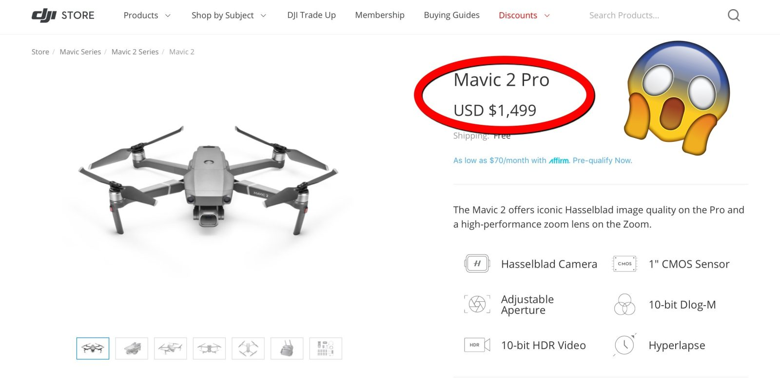 DJI Mavic 2 Pro even more expensive after DJI's latest price
