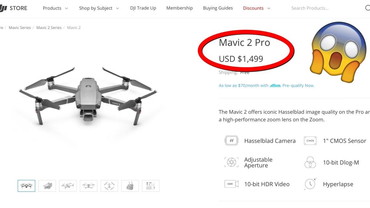 DJI Mavic 2 Pro even more expensive after DJI's latest price hike