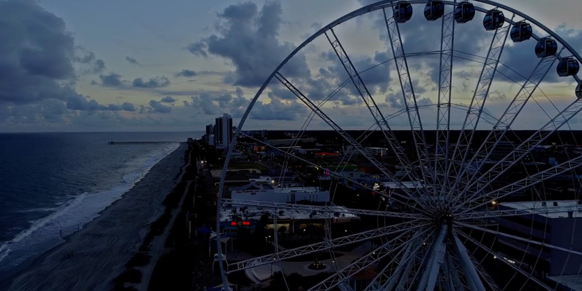 Drone video shows Myrtle Beach deserted as it braces for hurricane Florence