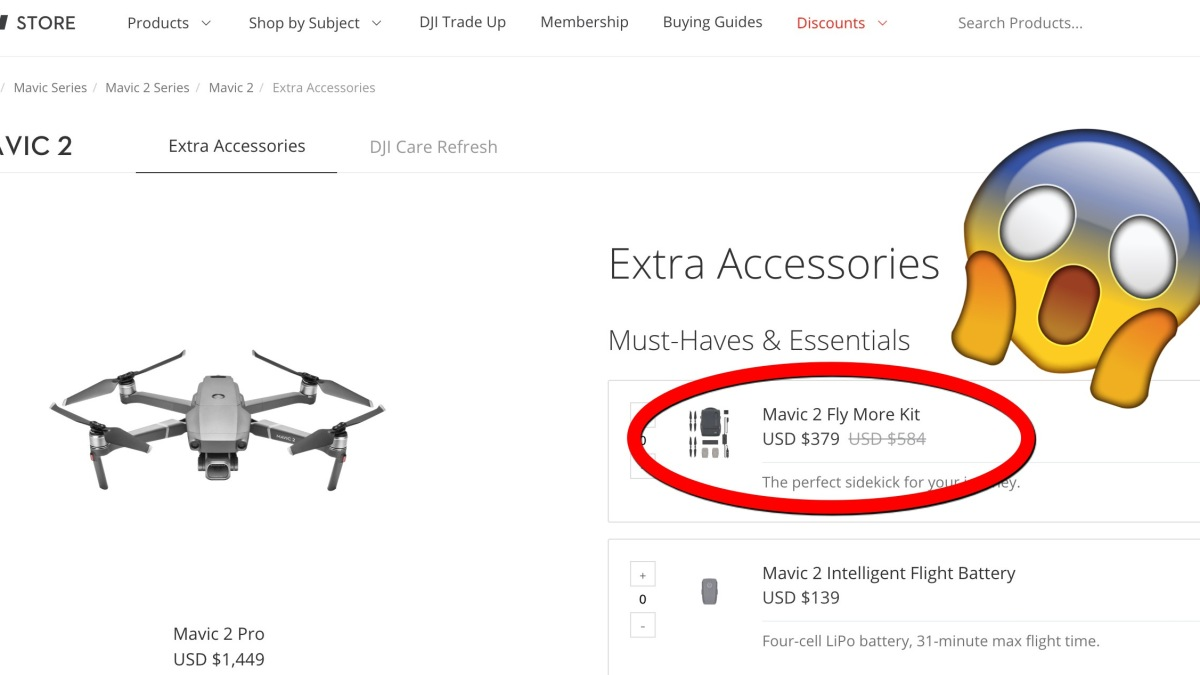 DJI raises the price on the Mavic 2 Fly More Kit and other accessories