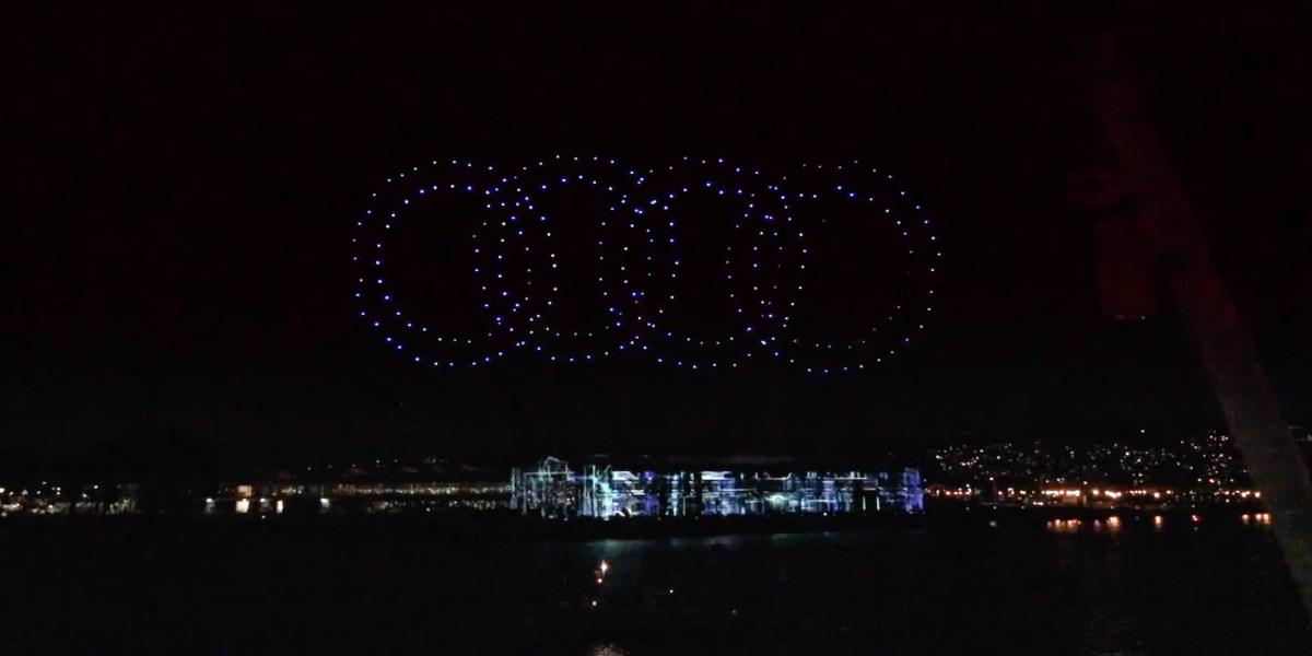 Audi kicks off launch e-tron model with a drone light show