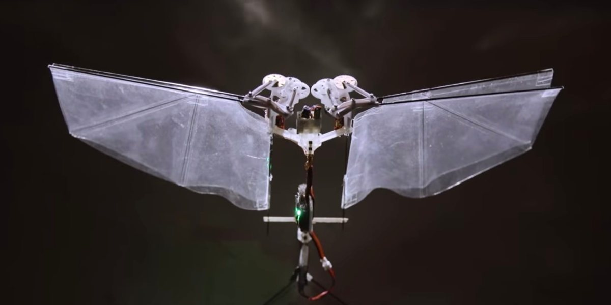Insect-inspired flying robot, DelFly Nimble developed by Dutch University