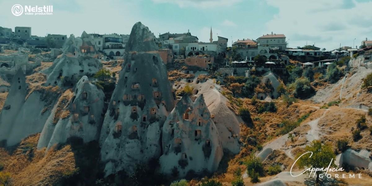 DroneRise - Drone video shows the Cardak Underground City in Turkey