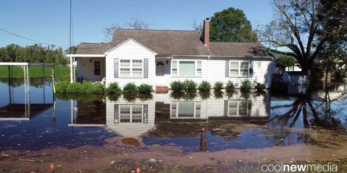 DroneRise - Flooding in North Carolina captured with a DJI Phantom 4 Pro+