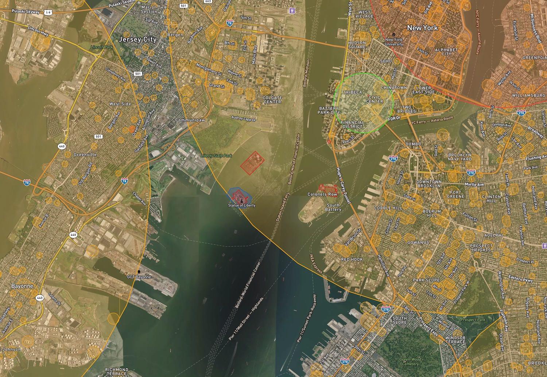 Airmap.io New York City Statue of Liberty