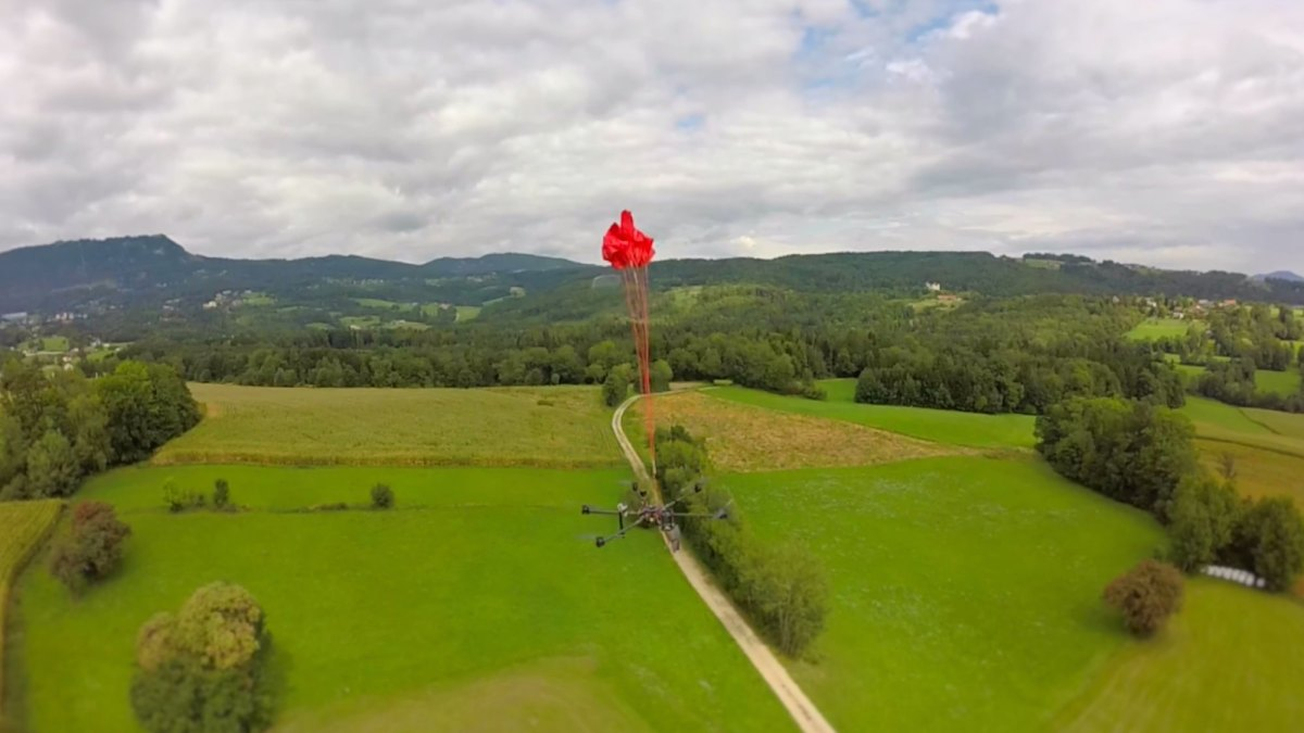 Austrian company Drone Rescue introduces new parachutes for drones