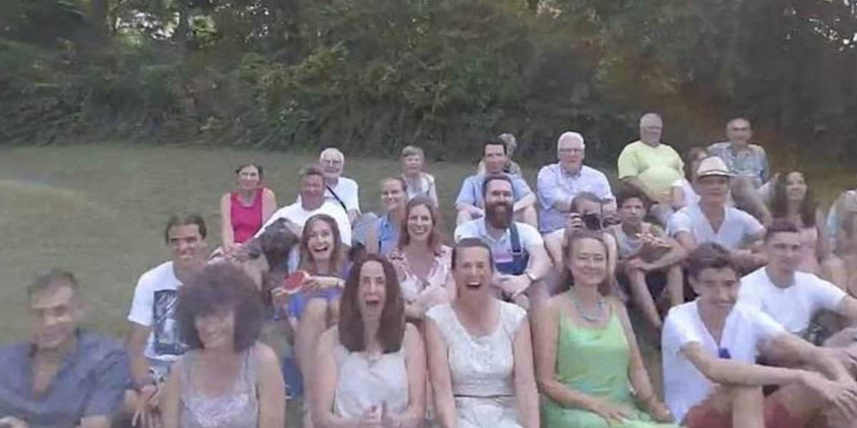 Drone flies into woman's face during family reunion
