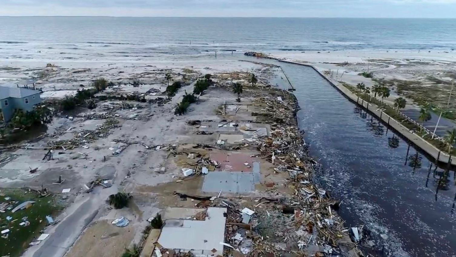 Drone Video Shows Hurricane Michael Caused Widespread Devastation In Mexico Beach Fl