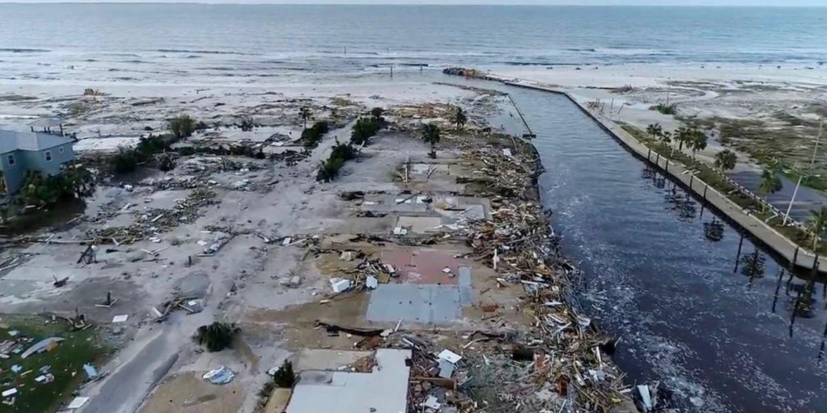 Drone video shows Hurricane Michael caused widespread devastation in Mexico Beach, FL