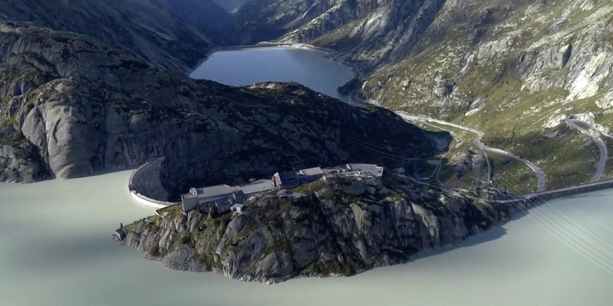 DroneRise - DJI drone captures the 'Goldfinger' Furka Pass in Switzerland