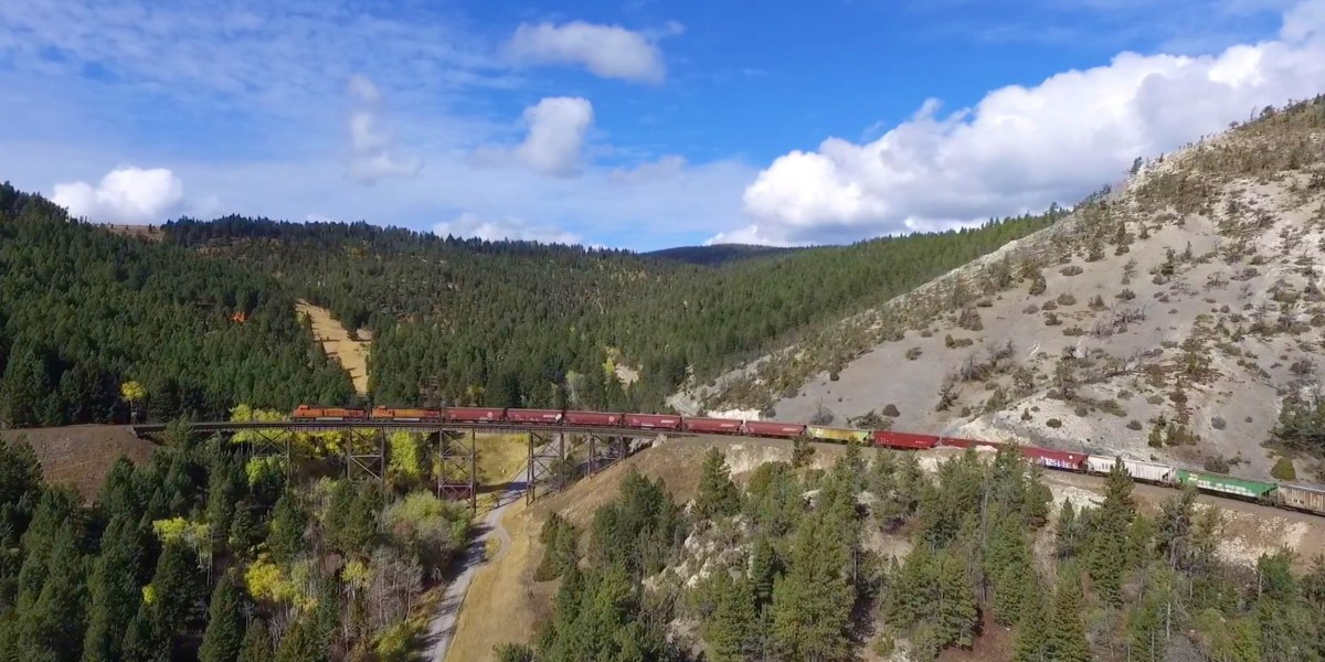 Dronerise - freight train captured by UAS