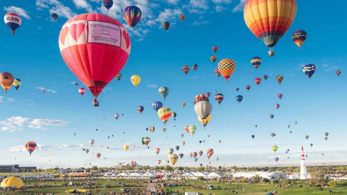 Drones are not allowed at the Albuquerque International Balloon Fiesta, except one DJI Matrice 600