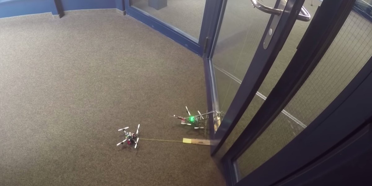 FlyCroTugs: Small wasp-inspired drone can pull 40 times its own weight