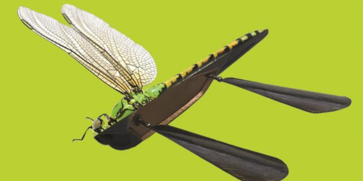 Skeeter drone inspired by dragonfly's turbulence-resistant wings