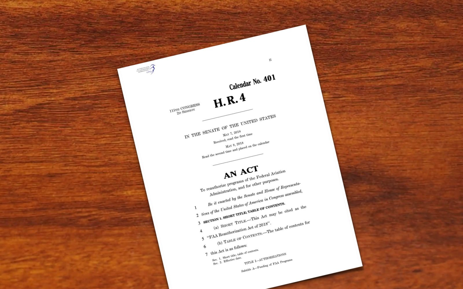 FAA Reauthorization Act of 2018 passed by Senate - DroneDJ