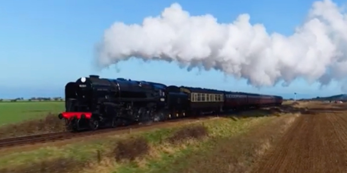 Check out these steam locomotives captured with a drone